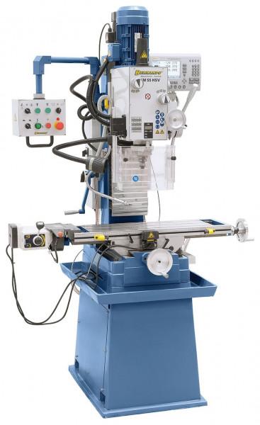 Bohr- und Fräsmaschine FM 55 HSV inkl. 3-Achs-Digitalanzeige i200 und Vorschub f. x-Achse