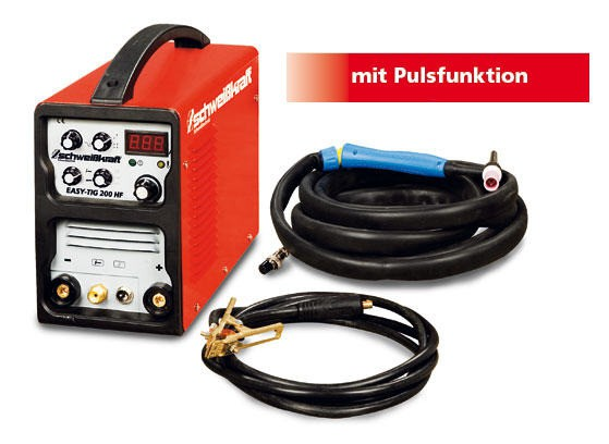 SCHWEIßKRAFT WIG-Inverter EASY-TIG 200 HF mit Pulsfunktion