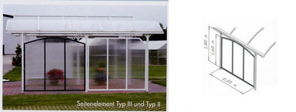 Seitenelement Typ III weiß (RAL 9016)