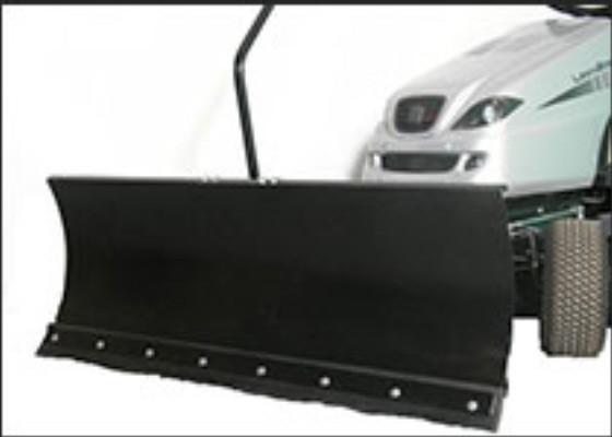 Schneeschild für Rasentraktoren 118 x 50 cm schwarz