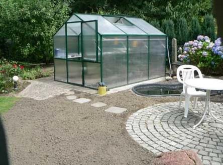 Rose Typ III 2,33 x 3,23 m = 7,5 m² moosgrün