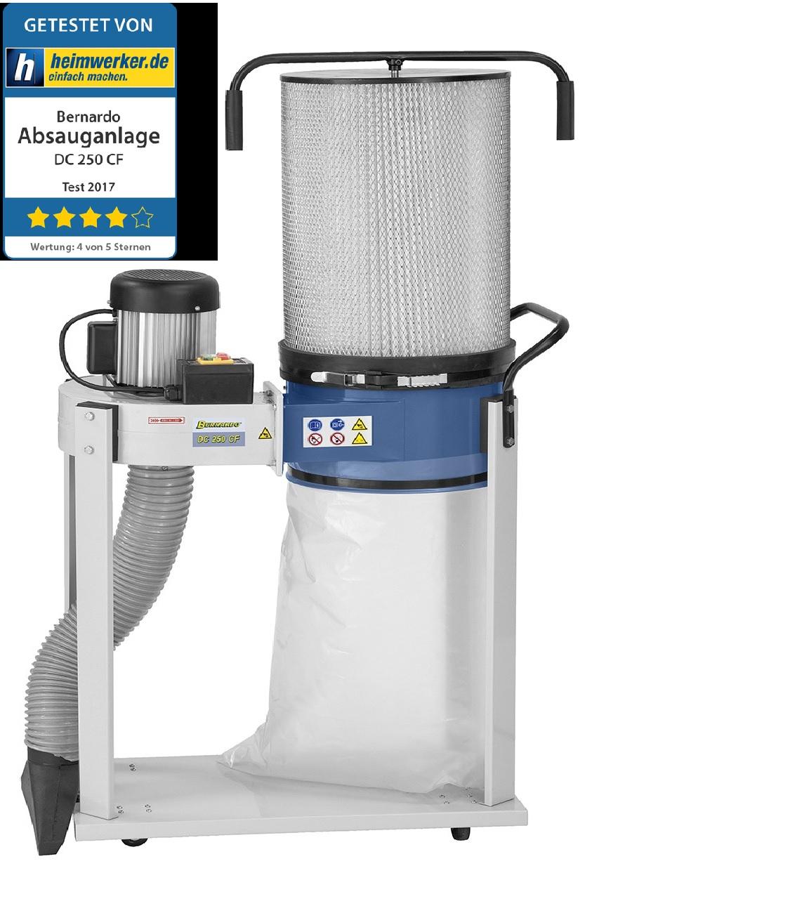 absauganlage mit feinstaub filterpatrone dc 250 cf. Black Bedroom Furniture Sets. Home Design Ideas