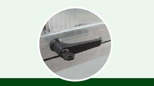 abschließbarer Türdrücker, pressblank