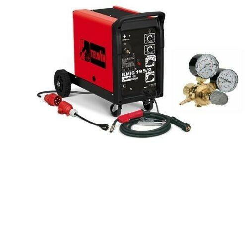 Schweißgerät TELMIG 195/2 Turbo 230/400 Volt MIG MAG inkl. Schlauchpaket Telwin