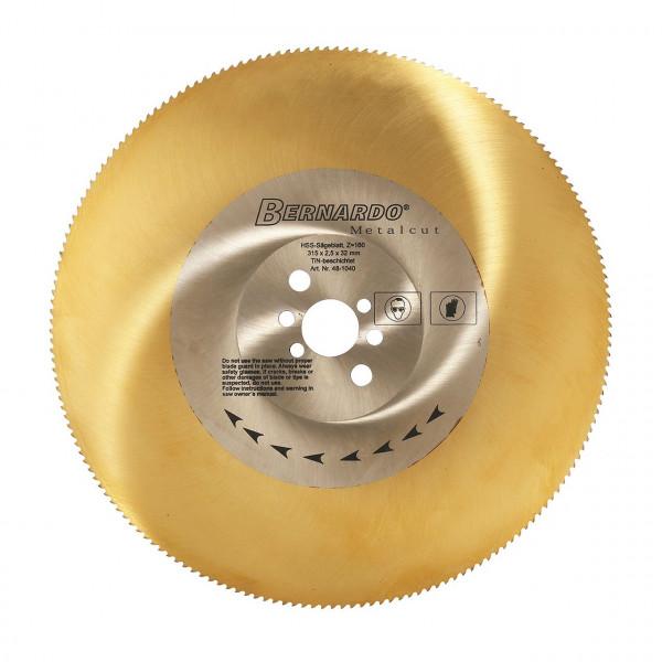Sägeblatt HSS-Tin-beschichtet 250 x 2,0 x 32 mm, Z 128