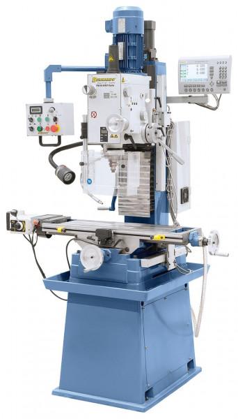 Bohr- und Fräsmaschine FM 55 HSV Vario inkl. 3-Achs-Digitalanzeige i200 und Vorschub f. x-Achse