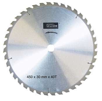 GÜDE Hartmetall-Sägeblatt für GWS 450 ECO