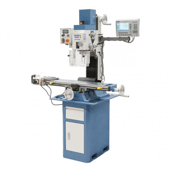 Bohr- und Fräsmaschine BF 30 Super inkl. Vorschub- inkl. 3-Achs-Digitalanzeige